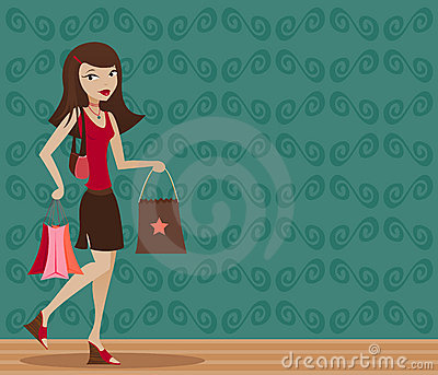 Brunette Shopper