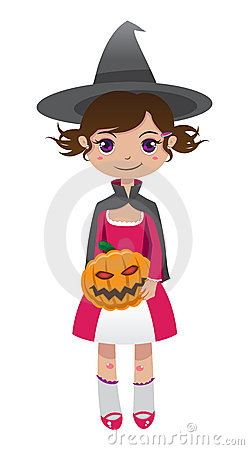Brunette witch