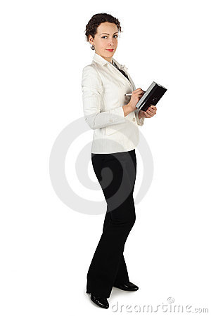 Brunette woman in business dress