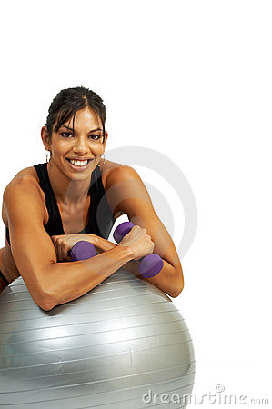 Free Brunette Woman Exercising Stock Images - 5380564