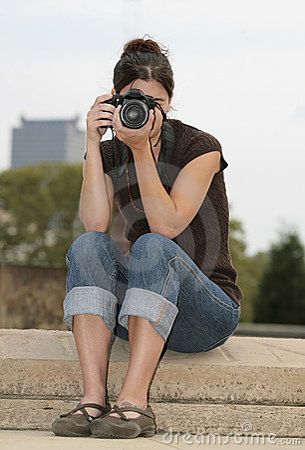 Brunettefrauenphotograph