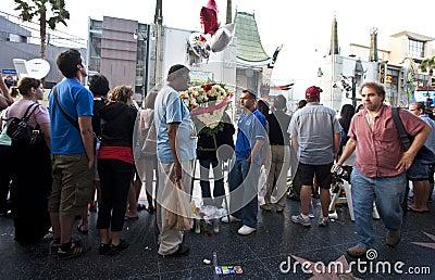 Bruno Movie Premiere Michael Jackson death Editorial Stock Image