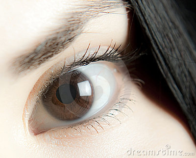 Brunt öga