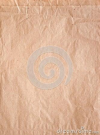 Brunt papper för påse