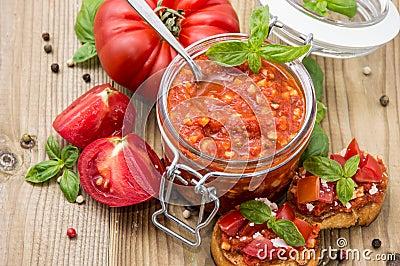 Bruschetta Sauce (in a glass)