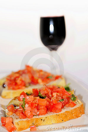 Bruschetta And Wine Stock Image - Image: 11144731