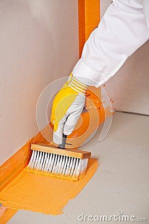Brush applied waterproofing