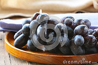 Brush of black grapes