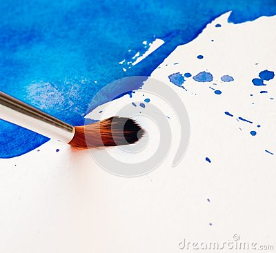 Brush with colorful background