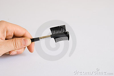 Brush and comb for eyebrows