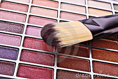 Brush and eye shadows