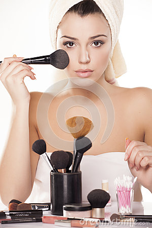 Free Brush For Powder Stock Image - 29695381