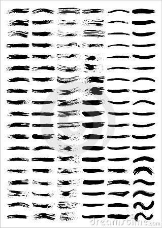Free Brush Lines Royalty Free Stock Images - 9875449