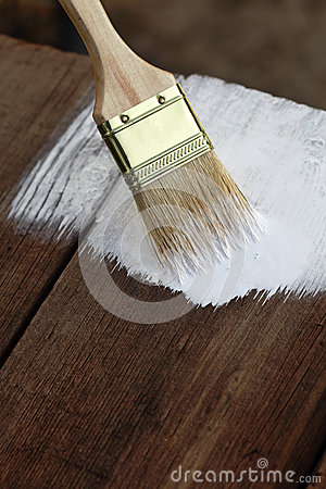 Brush On Old Wood Royalty Free Stock Photo - Image: 26263525
