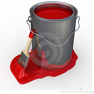 paint bucket and brush - photo #13