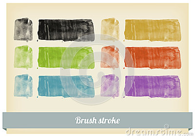 Brush paint splashes vector