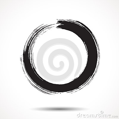 Free Brush Painted Black Ink Circle Royalty Free Stock Photos - 50117358