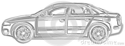 Brush Painted Car Royalty Free Stock Photo - Image: 28901035
