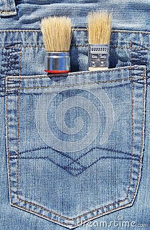Brush in pocket