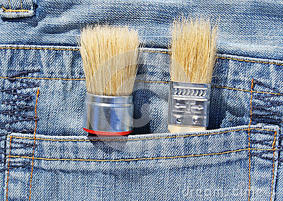 Brush in pocket