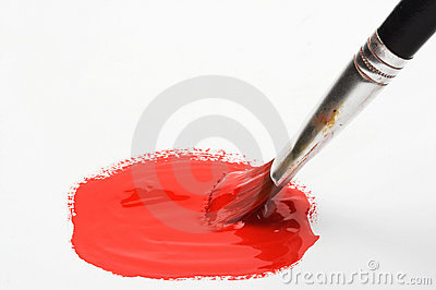 Brush and red color paint stock photography image 9716592 - Dreaming about the color red ...