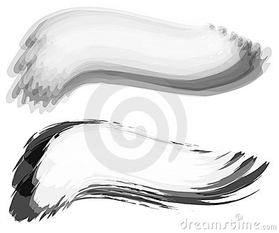 Brush Stroke Swoosh Web Logo