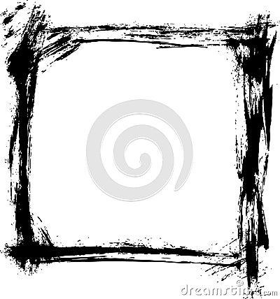 Brush strokes border vector stock photography image 3815192