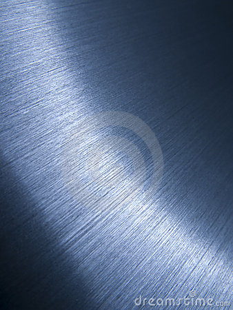 Brushed aluminum surface