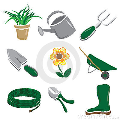 Brushed Gardening Icons