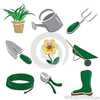 Brushed Gardening Icons