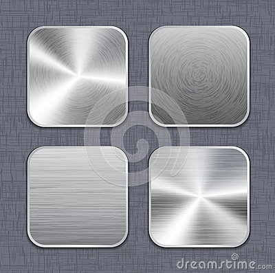 Brushed metal app icon templates 2