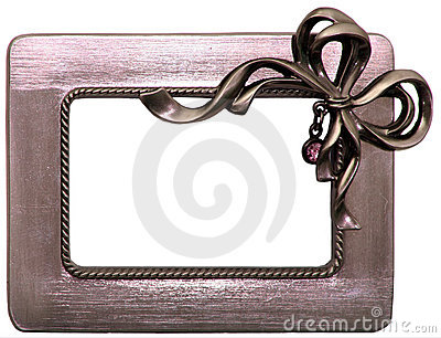 Brushed Metal Frame with Bow