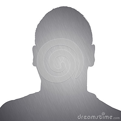 Free Brushed Metal Man Silhouette Stock Images - 30221804