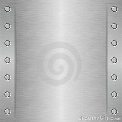 Brushed Metal Plate Stock Photo - Image: 2714700