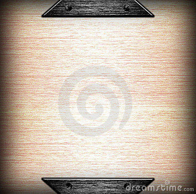 Brushed metal plate template background