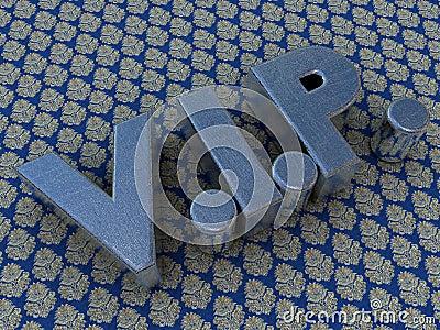 Brushed metal VIP logo