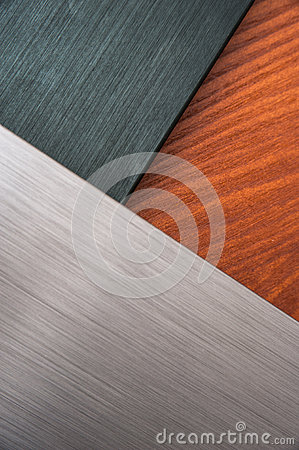 Brushed metal and wood texture