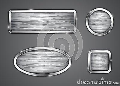 Brushed metallic buttons