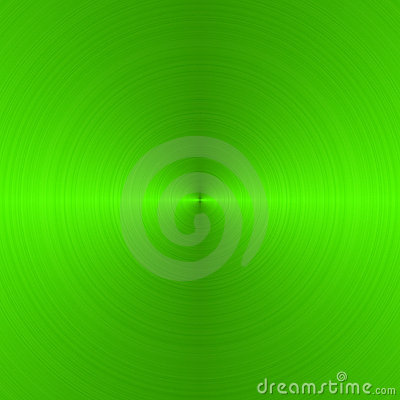 Brushed neon green circular