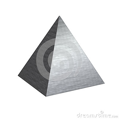 Free Brushed Texture Metal Steel Pyramid Royalty Free Stock Photography - 47001777