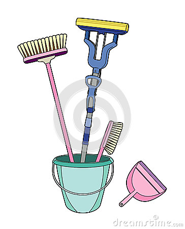 Brushes in a bucket