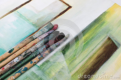 Brushes on Canvas
