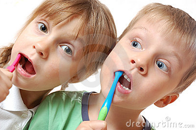 Brushing teeth children