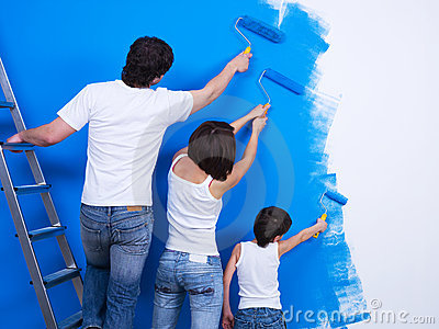 Brushing the wall by people