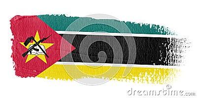 Brushstroke σημαία Μοζαμβίκη