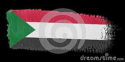 Brushstroke σημαία Σουδάν