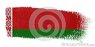Brushstroke Flag Belarus