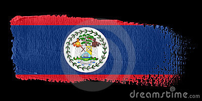 Brushstroke Flag Belize