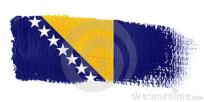 Brushstroke Flag Bosnia and Herzegovina