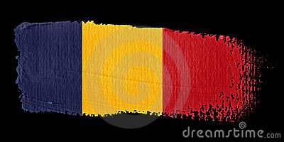 Brushstroke Flag Chad